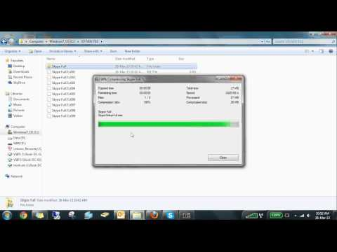 How to use 7zip to Split to volumes,bytes-VSIP