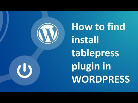 How to install table press plugin in wordpress using CPanel