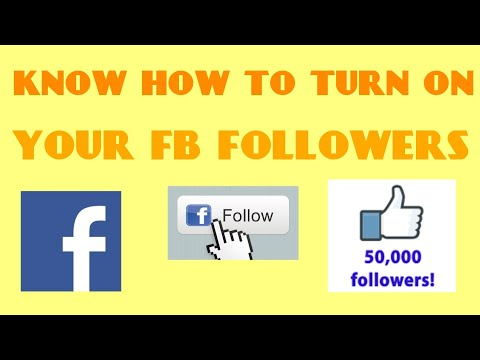 How to turn on followers on facebook in telugu(2018)