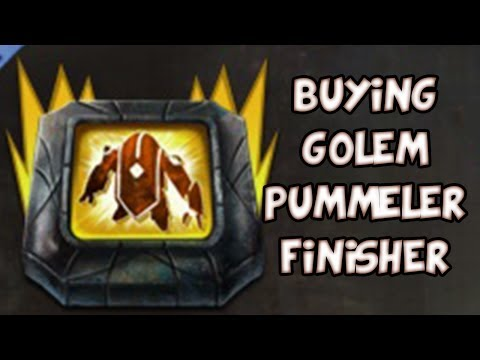 BUYING GOLEM PUMMELER FINISHER! | Guild Wars 2 Gemstore Shopping #034