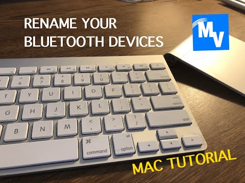 How to rename your bluetooth devices on your Mac