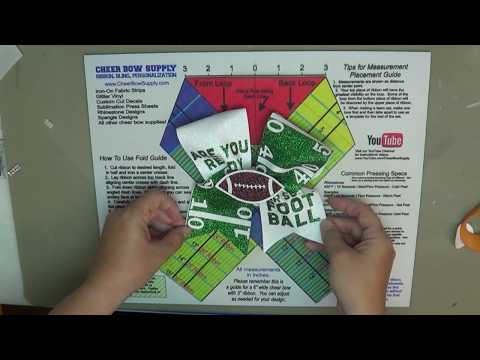 Easy DIY Glitter Are You Ready For Some Football Cheer Bow Using Vinyl Cut Outs