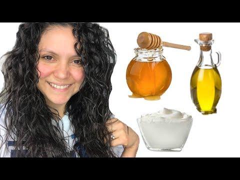 Como HIDRATAR el cabello seco y maltratado   con 3 Ingredientes de tu COCINA