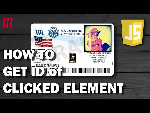 JAVASCRIPT How to get ID of clicked element