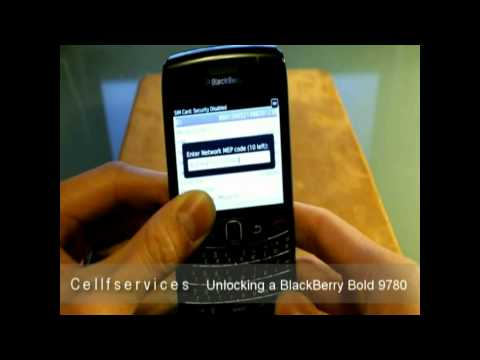 How to Unlock a BlackBerry Bold 9780 (T-mobile AT&T Rogers Bell Telus Vodafone Wind Mobilicity)