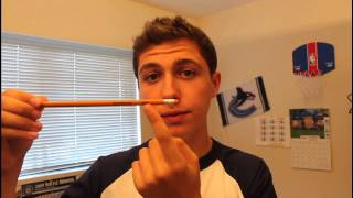 MAGIC TRICK- how to put a pencil in your head