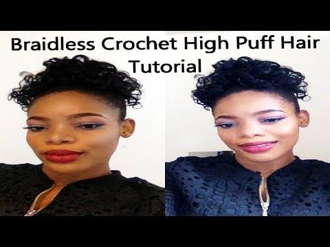 Braidless Crochet - High Puff Hair Tutorial | GoldQueen Queency