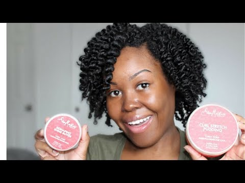 Shea Moisture Red Palm Oil & Cocoa Butter Curl Stretch Pudding & Shine Butter | Demo + Review