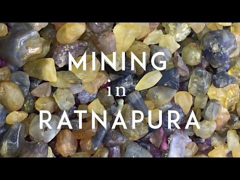 Gemstone mining in Ratnapura, Sri Lanka and Rough Sapphires found