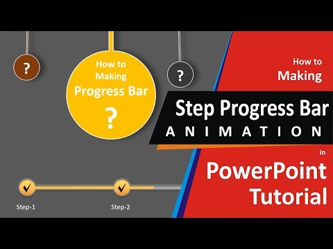 How to Create Animated Step Progress Bar ? | PowerPoint Trick | by Enjoy Art