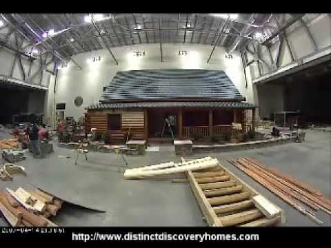 Time Lapse Log & Timber Frame Home Show Grand Rapids Mi