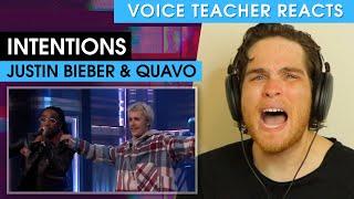 Justin Bieber ft. Quavo: Intentions | Voice Teacher Reacts