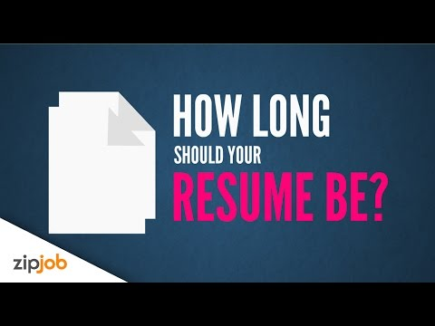 Exactly How long should your Resume be (2016)