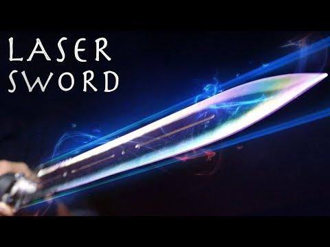 How To Make a LASER SWORD! - Powerful Burning Laser Lightsaber!!! (INSANE RESULTS)