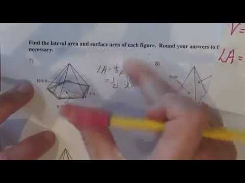 Surface area of hexagonal pyramid Kutasoftware #7
