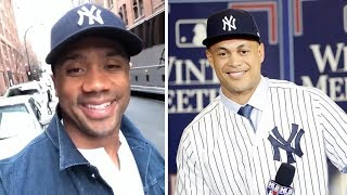 Russell Wilson JOINS the Yankees, Calls Out Giancarlo Stanton and Aaron Judge
