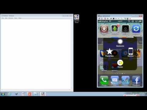 how to remote iphone using your PC?