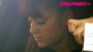 Ariana Grande Is Escorted To Universal Studios To Rehearse For Hairspray Live! 12.5.16
