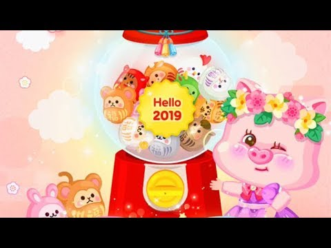LINE Play - Hello 2019 New Years Event - Super Rare Gem and Cash Items