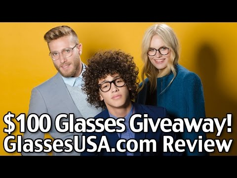 $100 Glasses GIVEAWAY!!! - GlassesUSA.com Review - Glasses/ $48/pair!