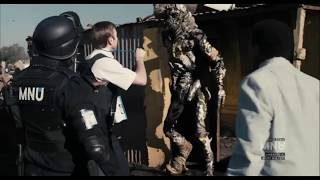 DIstrict 9 - MNU begin to evict the aliens using cat food [Clip 2 of 13]