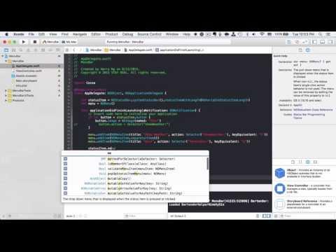 OSX Dev Day 7 - Menu Bar