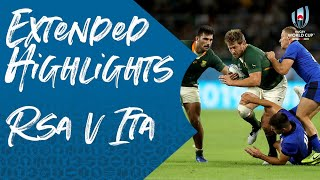 Extended Highlights South Africa V Italy
