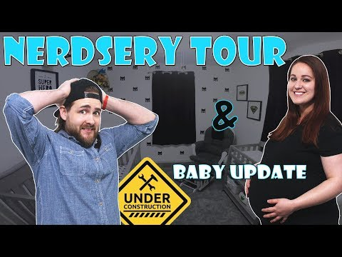 ROOM TOUR   Our Nerdy Nursery and Baby Update!!!