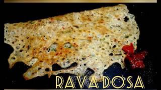 Instant Rava Dosa  -  Taj Kitchen