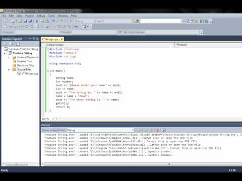 Visual C++ 5th tutorial Strings
