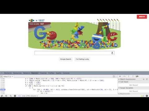 Easy Score and Lives Hack (no scripts required!) - 2013 Google Doodle 15th Birthday Piñata Game