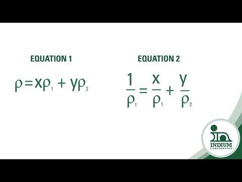 The Correct Formula for Solder Alloy Density