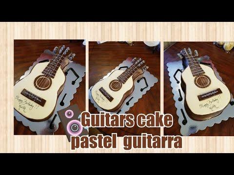 Saludando Y Trabajando Pastel De Guitarra En Vivo (1)