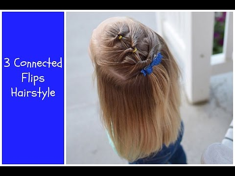 3 Connected Flips Toddler Hair Idea