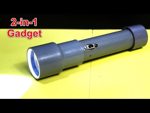 How to make FLASHLIGHT WITH POWER BANK using PVC pipe