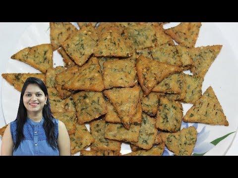 Palak Mathri Recipe in Hindi | Mathri Namkeen Recipe | Mathri Banane ki Vidhi |Namkeen Mathri Recipe