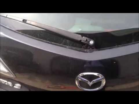 2010 Mazda3 Hatchback Rear Windshield Wiper Replacement