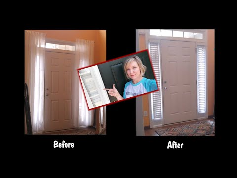 Install Faux Wood Blinds - with timelapse!