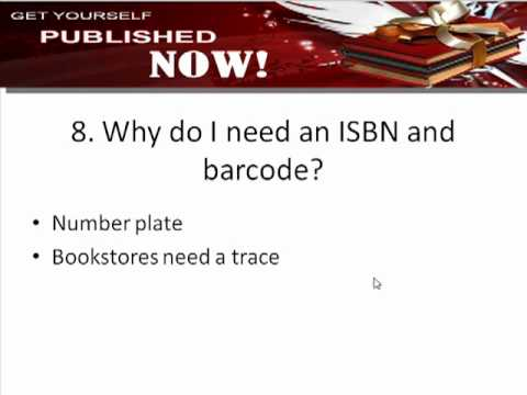 Why do you need an ISBN and barcode when self publishing?