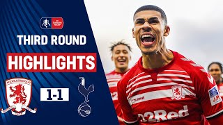 Moura Cancels Out Fletchers Opener | Middlesbrough 1-1 Tottenham Hotspur | Emirates FA Cup 19/20