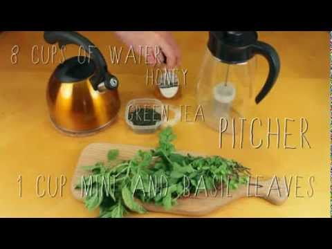 How to Make Iced Green Tea with Mint and Basil with Primula's Flavor It