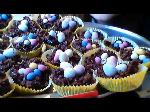 Easter corn flake cakes