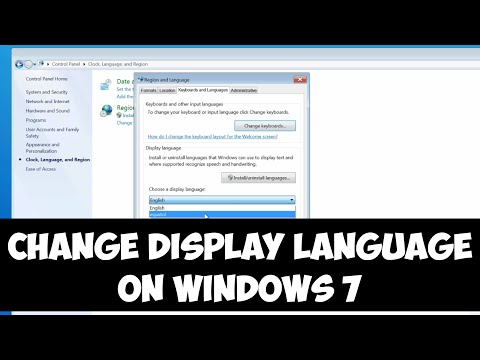 Change display language on Windows 7