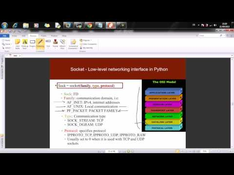 07 - Offensive Python For Networkers - Introduction to sockets