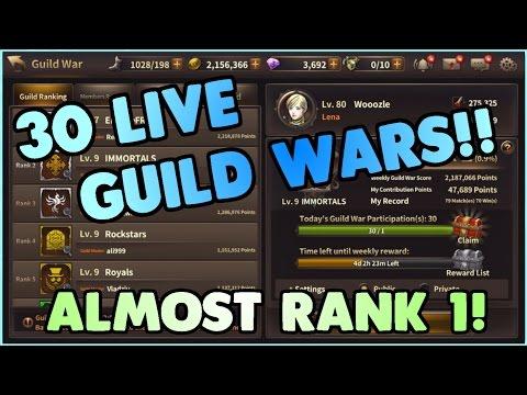 30 LIVE Guild Wars! | Rank 1 Lena Gameplay | HIT Heroes of Incredible Tales