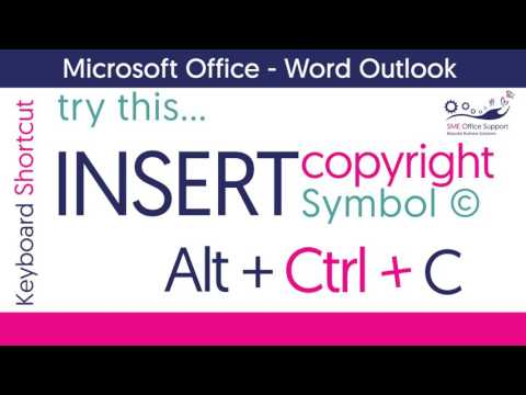Microsoft Office - Keyboard Shortcut - copyright, trademark symbols