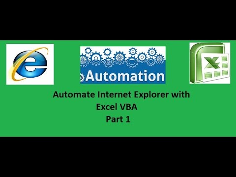 Automate Internet explorer with Excel VBA Part 1