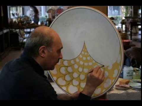 Copy of Deruta - Painting a Peacock on a wall plate