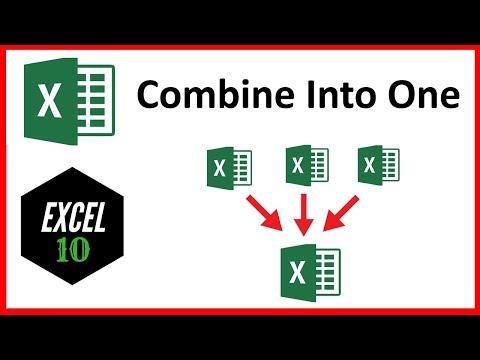How To Combine Multiple Workbook to One Workbook In Excel