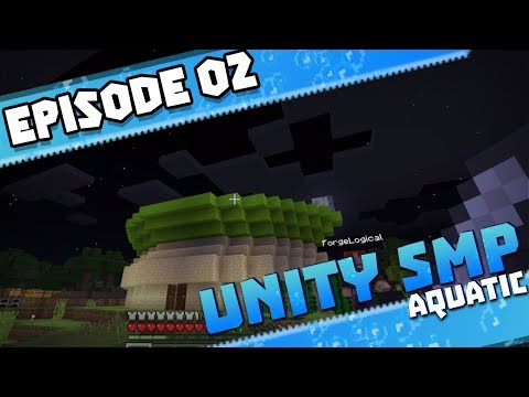 OUR FIRST HOME!! - UNITY SMP AQUATIC Season 3 Ep.2 - Minecraft PE (Bedrock Edition)